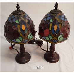 Pair Stained Glass Lamps