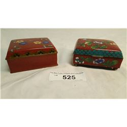 Pair Cloisonne Boxes