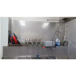 Stainless Steel Back Splash (back splash only, fryers, pans, trays not included)