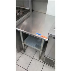 "Small Stainless Steel Prep Table with Undershelf 24"" X 30"" X 35"" H"