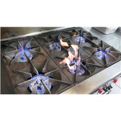 "6-Burner Gas Range with Oven & Shelf 36"" L X 33"" X 38"" H"