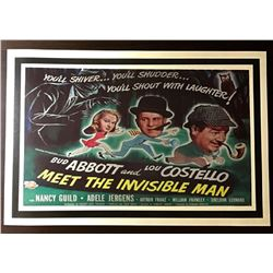 1951 Abbott & Costello Movie Theatre Lobby Poster
