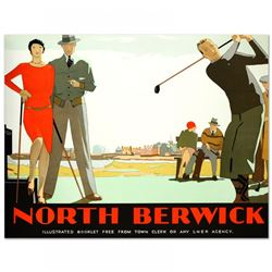 """North Berwick"" Hand Pulled 46x36 Lithograph"