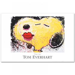 "Tom Everhart ""Dog Lips"" Snoopy ""Peanuts"" 36x24 Fine Art Lithograph"