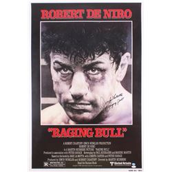 "Jake LaMotta Signed ""Raging Bull"" 26.5x39 Movie Poster Inscribed ""Raging Bull"" (JSA Hologram)"