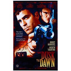 "Tom Savini Signed ""From Dusk Till Dawn"" 11x17 Movie Poster Photo (Legends COA)"
