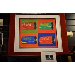 """Original Signed Andy Warhol - Gouache on Paper Painting - """"Coca-Cola"""""""