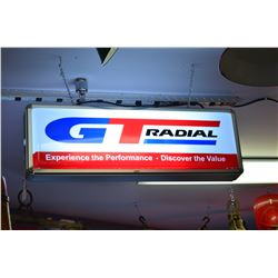 Vintage Gt Radial Light Up Wall Sign, 37'' Wide