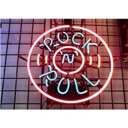 Beautifull Vintage Rock And Roll Neon Sign, Excellent Working Condition - Rock And Roll Neon Sign ..