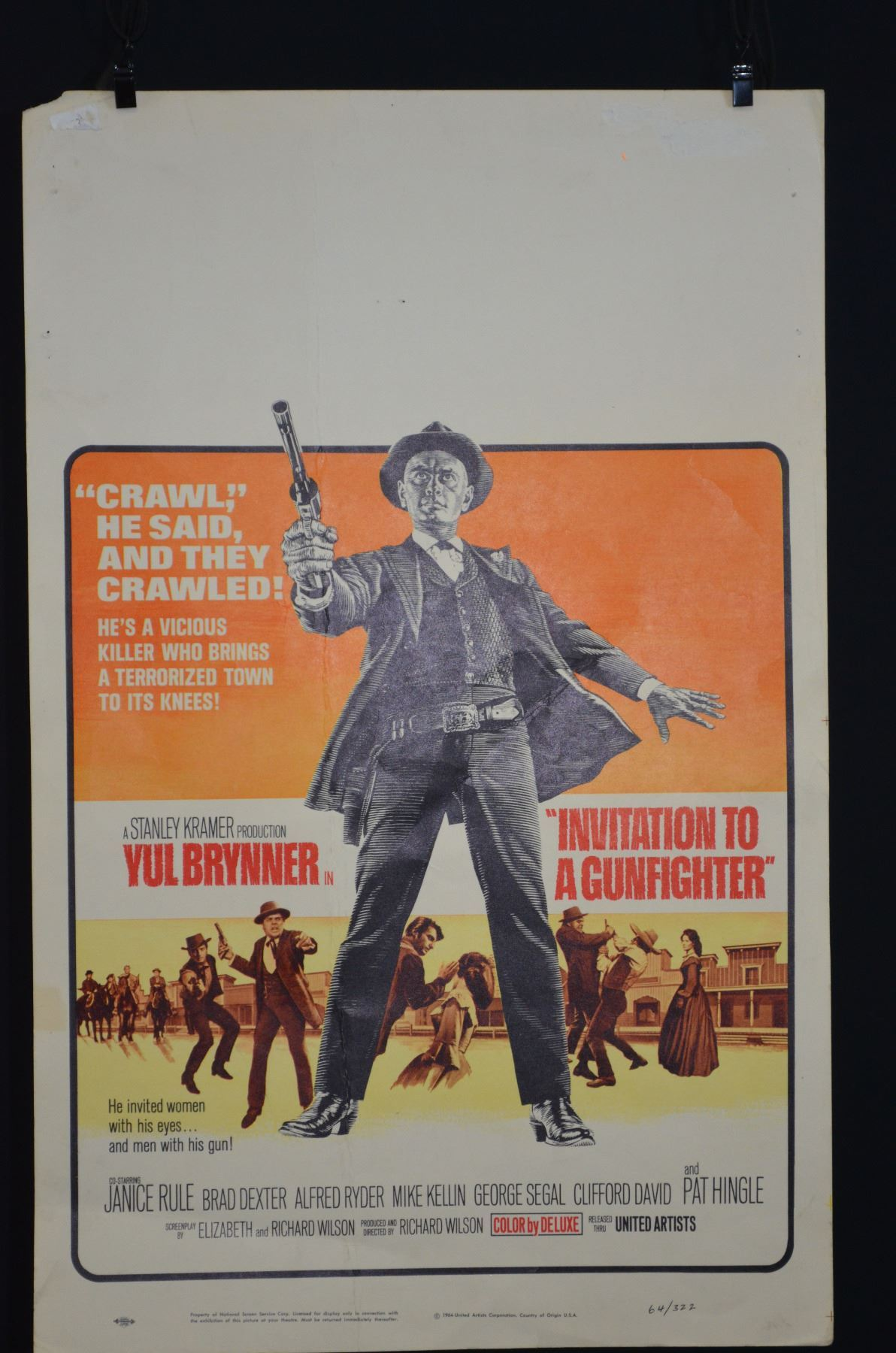 Vintage movie poster invitation to a gunfighter circa 1966 image 1 vintage movie poster invitation to a gunfighter circa 1966 stopboris Image collections