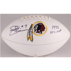 "Joe Theismann Signed Redskins Logo Football Inscribed ""1983 NFL-MVP"" (JSA Hologram)"