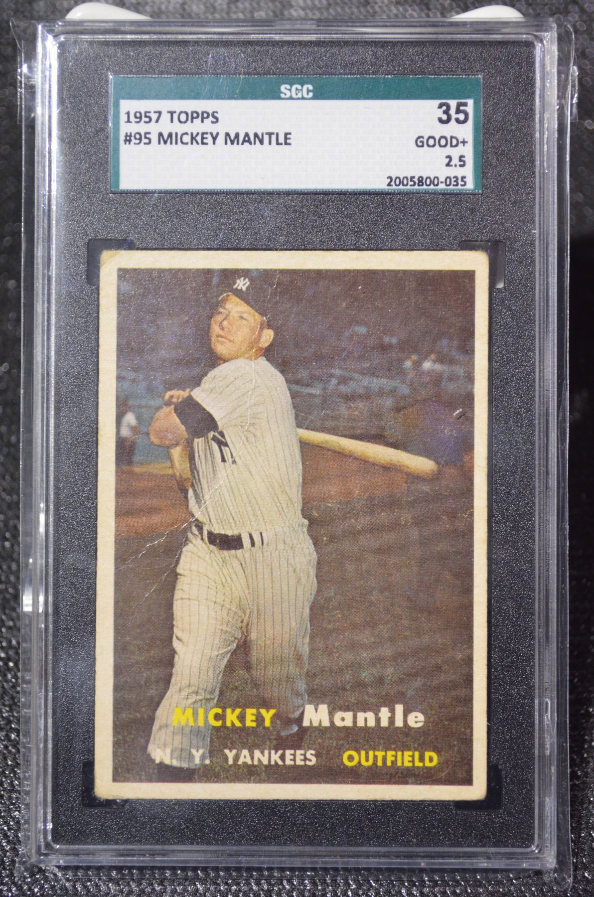 Image 1 1957 Topps 95 Mickey Mantle