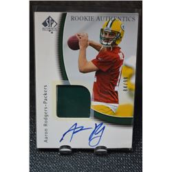 2005 SP Authentic #252 Aaron Rodgers JSY/99 AU RC