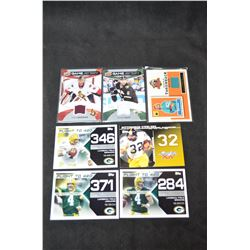 3 Jersey Cards - 4 Football Cards Lot