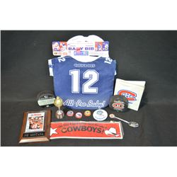 Assorted sports collectibles