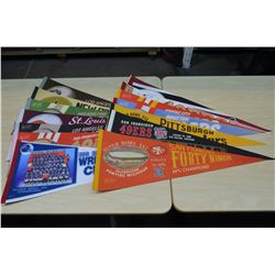 NFL Pennants (approx 14)