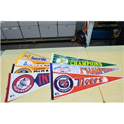 MLB Pennants (approx 7)