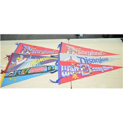 Disney Pennants (approx 6)