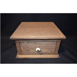 Handmade Oak Box w/drawer