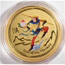 2016 1/10th oz GOLD AUSTRALIA YEAR OF THE MONKEY