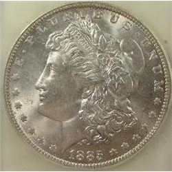 1885-O Morgan Silver Dollar  USCG MS-66