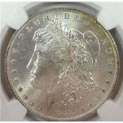 1884-O Morgan Silver Dollar  NGC MS65+