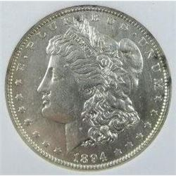 1894-O Morgan Silver Dollar  ANGS MS