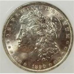 1890-P Morgan Silver Dollar  PCI MS65