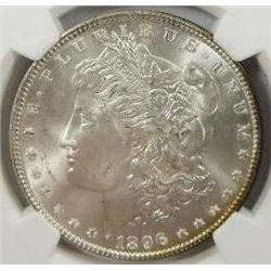 1896-P Morgan Silver Dollar  NGC MS66