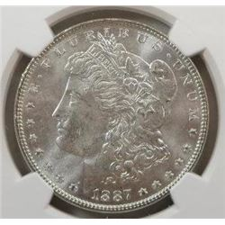 1887-P Morgan Silver Dollar NGC MS-65