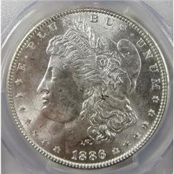 1886-P Morgan Silver Dollar  USCG MS