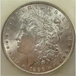 1896-P Morgan Silver Dollar  USCG MS