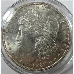 1887-P Morgan Silver Dollar