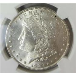 1896-P Morgan Silver Dollar  NGC MS64