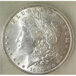 1890-P Morgan Silver Dollar  USCG MS