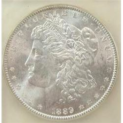 1889-P Morgan Silver Dollar  USCG MS