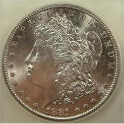 1881-S Morgan Silver Dollar  USCG MS
