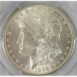 1896-P Morgan Silver Dollar  PCGS MS65+