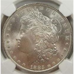 1885-O Morgan Silver Dollar  NGC MS66