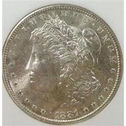 1881-S Morgan Silver Dollar  NCG MS-64