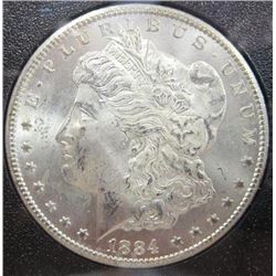 1884-CC Morgan Silver Dollar  GSA