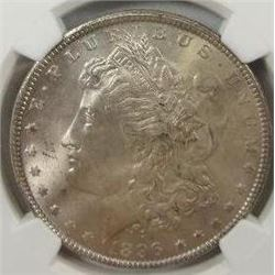 1896 Morgan Silver Dollar  NGC MS65+