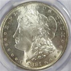 1881-S Morgan Silver Dollar PCGS MS64