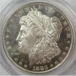 1883-O Morgan Silver Dollar  PCGS MS62DMPL