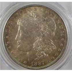 1887-P Morgan Silver Dollar  PCGS MS64