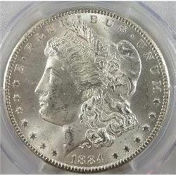 1884-CC Morgan Silver Dollar  PCGS MS64+