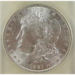 1887-P Morgan Silver Dollar  USCG MS