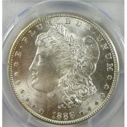 1888-S Morgan Silver Dollar  PCGS MS65+