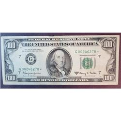1963 A $100 Federal Reserve Note