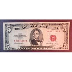 1953 $5 US Note